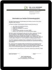 Information zur fetalen Echokardiographie